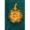 Florecita - Gold plated silver filigree pendant