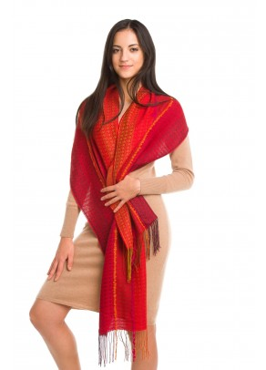 Hot couture - baby alpaca and silk scarf
