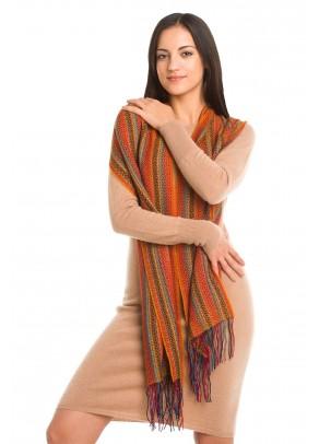 Desert spring - baby alpaca and silk scarf