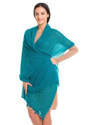 Ocean Embrace - baby alpaca shawl