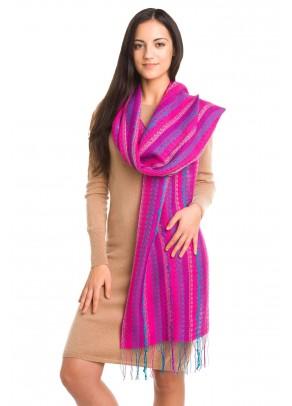 Vuelo de mariposas violetas - baby alpaca and silk scarf