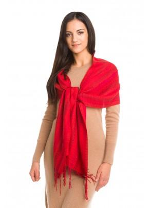 Saffron threads - Eșarfă fină din baby alpaca și mătase