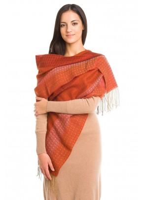 Puesta del sol - baby alpaca and silk scarf