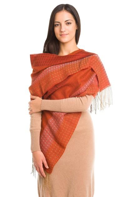 """""""Puesta del sol"""" baby alpaca and silk scarf"""