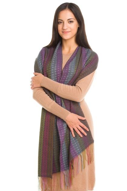 """Vendimia"" baby alpaca and silk scarf"