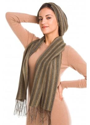 Arena - baby alpaca and silk scarf