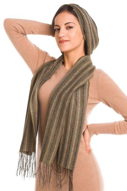 """Arena"" baby alpaca and silk scarf"