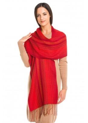 Rojo real - baby alpaca and silk scarf