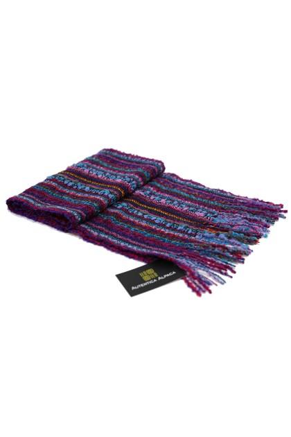 Purple Orchid baby alpaca fine scarf