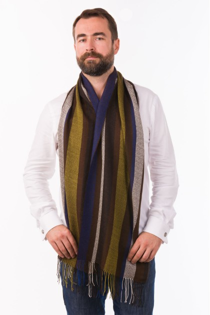 """Pacha azul"" baby alpaca and silk scarf"