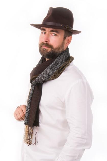 """Pacha tierra"" baby alpaca and silk scarf"