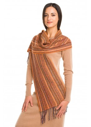 Desert Dunes - baby alpaca and silk scarf