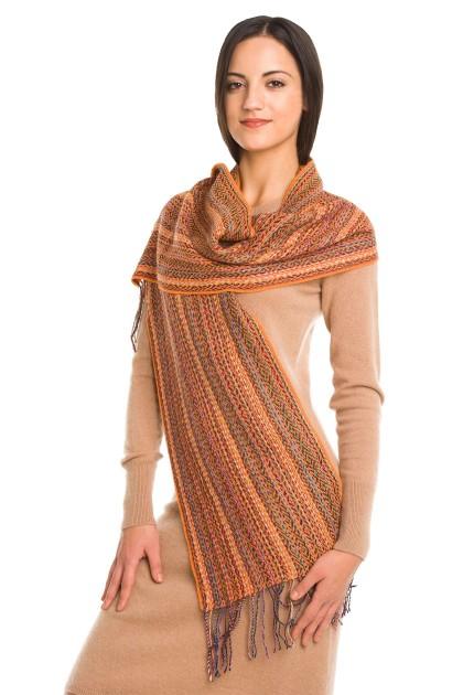 """Desert Dunes"" baby alpaca and silk scarf"