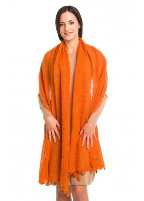 Sunshine Embrace - baby alpaca shawl