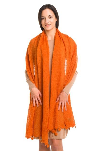"""Sunshine Embrace"" baby alpaca shawl"