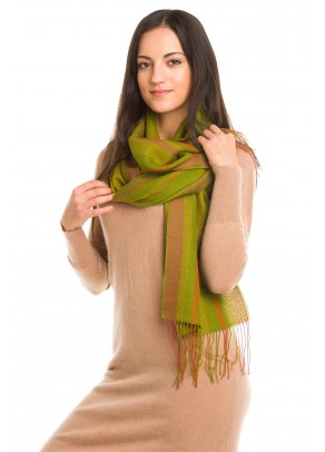 Unakite - baby alpaca and silk scarf