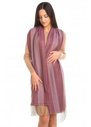 Lilac Waterfall - baby alpaca and silk scarf