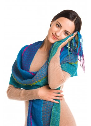 Marvida - baby alpaca and silk scarf