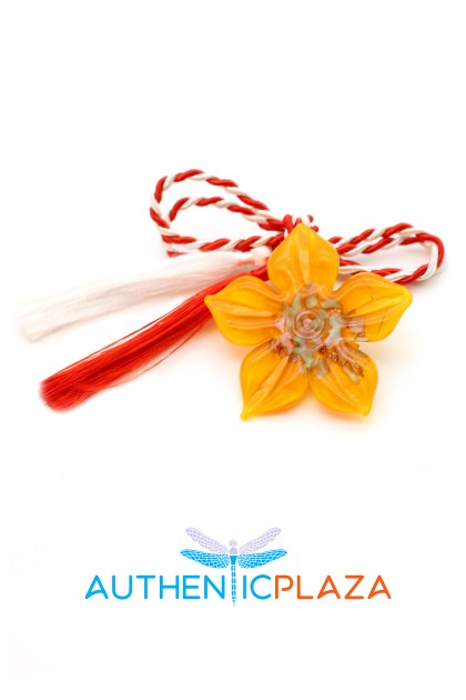 March Brooch - Murano Flower