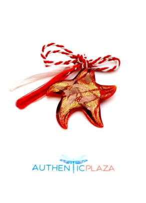 Murano Star March Brooch