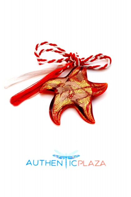 March Brooch - Murano Star