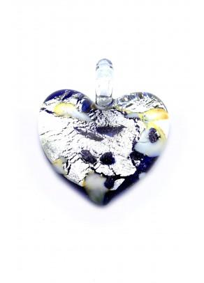 Pendant Passione - Silver on Blue