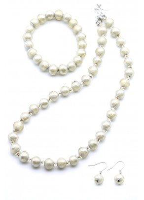 Murano Set Mariana - 3 piece, short necklace