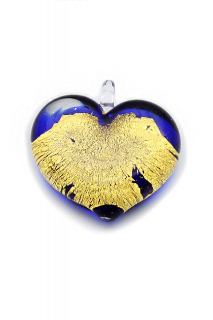 Pendant Passione - Gold on Blue