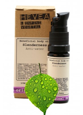 Ulei detoxifiant, anticelulitic bio Anti-Water Slenderness cu alune de padure, chiparos, ienupar - 10 ml