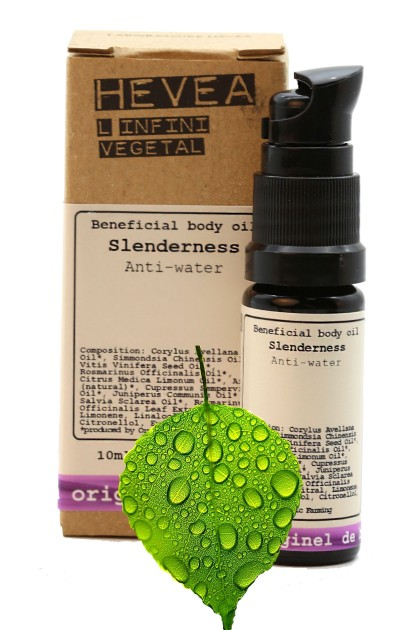 Anti-cellulite, detoxifying Anti-Water Slenderness organic body oil with hazelnut, cypress, juniper
