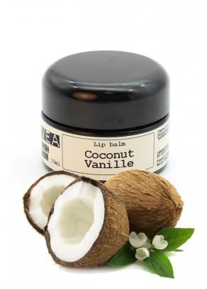 Balsam de buze bio cu unt de shea, ulei de cocos si extract natural de vanilie