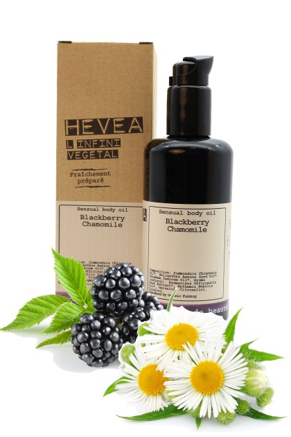 Organic sensual body oil Blackberry Chamomile - 200 ml