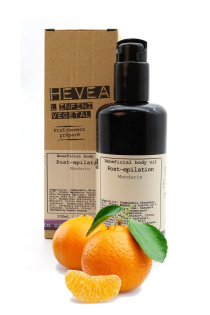 Organic post epilation oil with baobab and cannabis