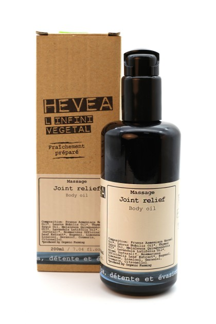 Joint relief aromatherapy organic massage oil with laurel and thyme - 200 ml