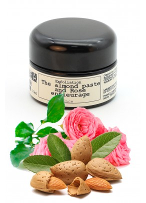 Organic rose enfleurage exfoliating facial scrub - 15 ml