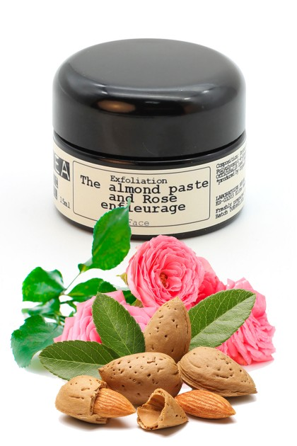 Organic rose enfleurage exfoliating facial scrub