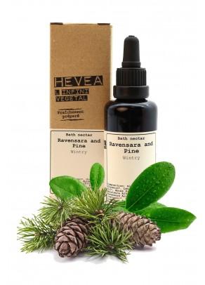 Organic bath nectar with ravensara and pine