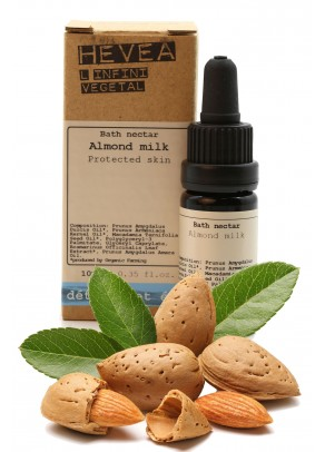 Organic bath nectar with almond milk and macadamia - 10 ml