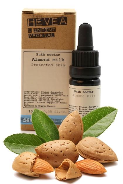 Organic bath nectar with almond milk and macadamia