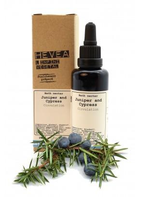 Organic bath nectar with juniper and cypress
