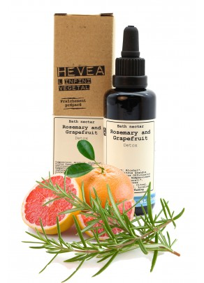 Organic bath nectar with rosemary and grapefruit