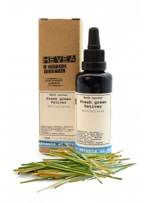 Organic bath nectar with vetiver and mint