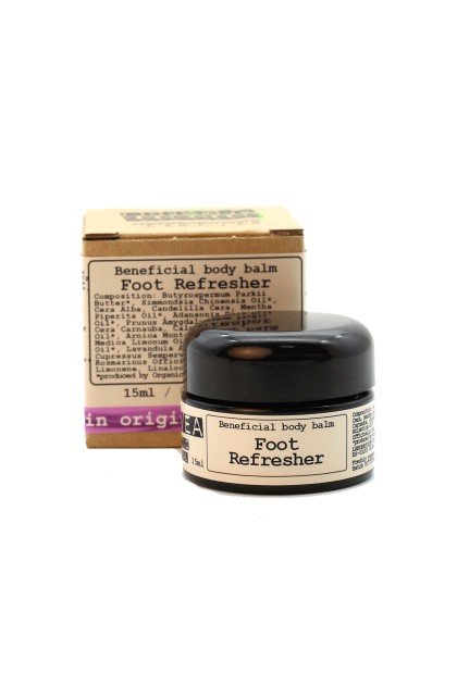 Refreshing foot balm with organic cypress, shea butter and arnica