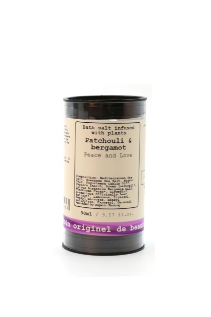 Luxury Bath Salts with organic essences of patchouli and bergamot