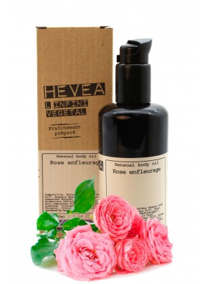 Organic sensual body oil with rose infusion and argan oil - 200 ml