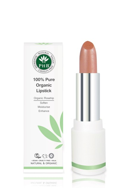 Organic lipstick with shea butter and rosehip oil (Tea Rose)