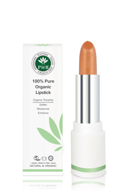 Organic lipstick with shea butter and rosehip oil (Amber)