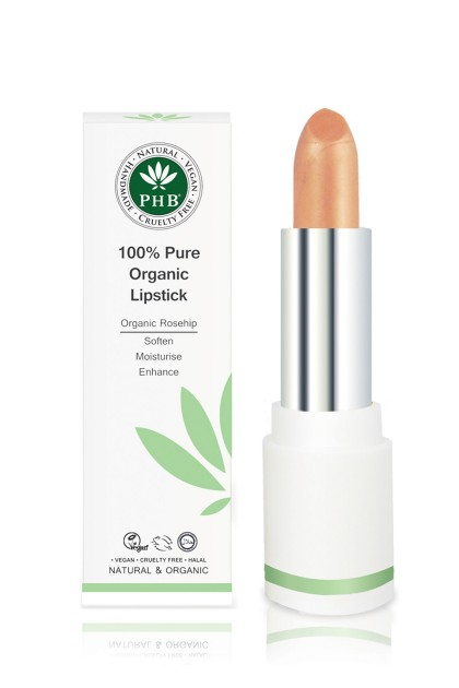 Organic lipstick with shea butter and rosehip oil (Apricot)