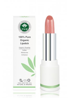 Organic lipstick with shea butter and rosehip oil (Petal)
