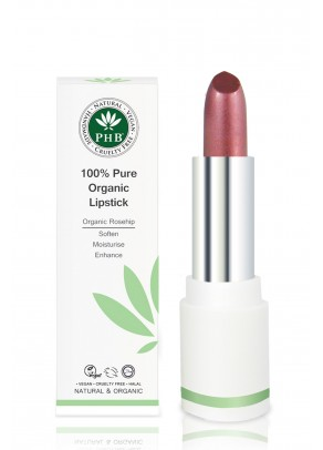 Organic lipstick with shea butter and rosehip oil (Plum)